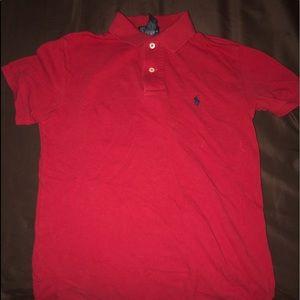 Red Polo Ralph Lauren Collared Shirt